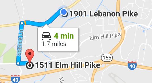 Cumberland Idealease Moved to 1901 Lebanon Pike, Nashville, TN
