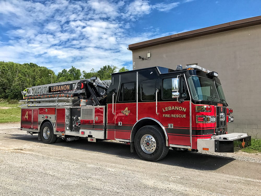 New Sutphen Fire Truck Goes on Tour and then to the Lebanon Fire Department