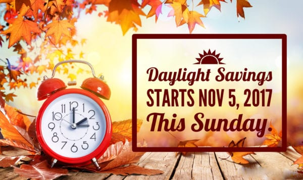 Daylight Savings Time Starts Sunday