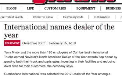 Cumberland Featured on Overdrive – Dealer of the Year