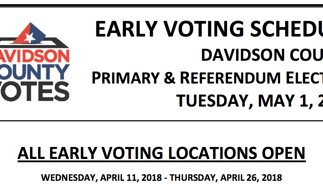 Early Voting Times and Locations