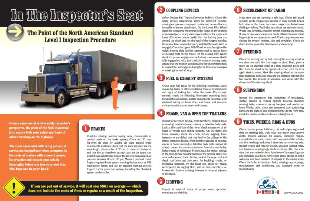 Driver Tip Sheet From The Commercial Vehicle Safety