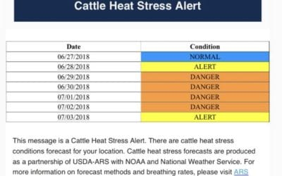 Tennessee Weather Can Cause Heat Stress in Livestock