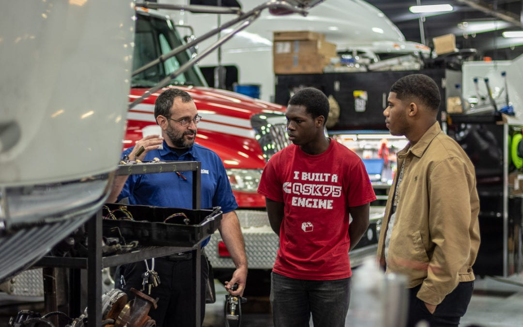 McGavock Highschool Transportation & Diesel Academy Students Job Shadow at Cumberland International Trucks