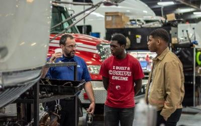 McGavock Highschool Transportation & Diesel Academy Students Job Shadow at Cumberland International Trucks