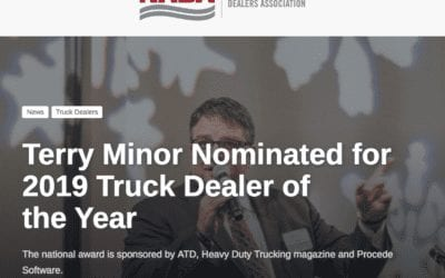 Terry Minor and Cumberland Featured on NADA Website for ATD's 2019 Truck Dealer of the Year Nomination