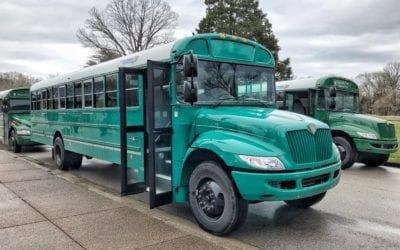 Spot Our Stuff – Teal IC Bus Powered by Propane at Mammoth Cave National Park