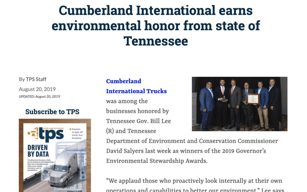 Cumberland Mentioned in the Press