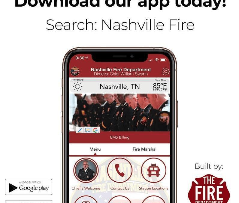 Nashville Fire Department Launches Free App